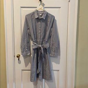 J. Crew Tie-Waist Shirt Dress